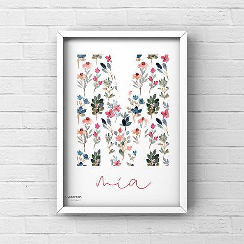 Lámina inicial flores - Más estampados