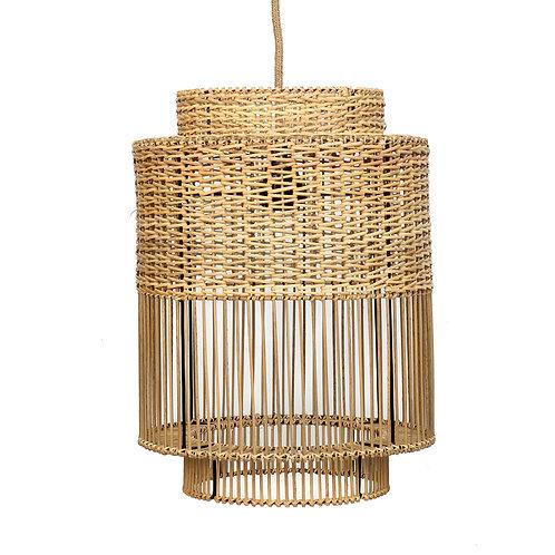 Lámpara ratán Colonial