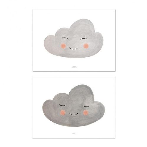 Juego de láminas Nubes