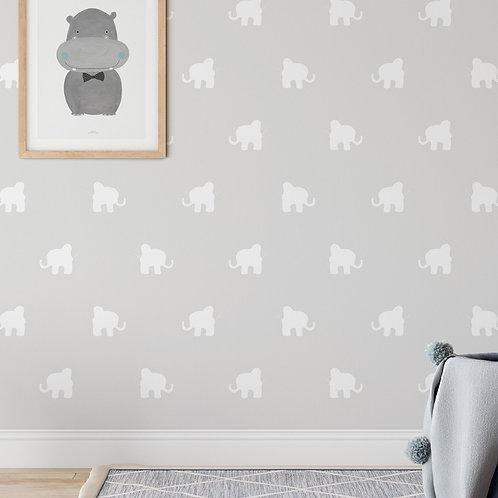 Papel pintado Elefantes visón