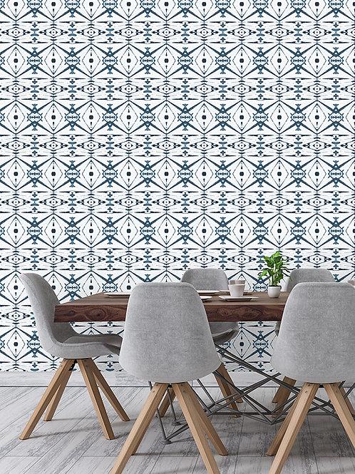 Papel pared Kaleidoscope Azul tinta