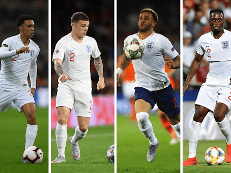 ENGLAND RIGHT-BACK DILEMMA: WHO WILL SOUTHGATE PICK IN HIS 26 MAN ENGLAND SQUAD?