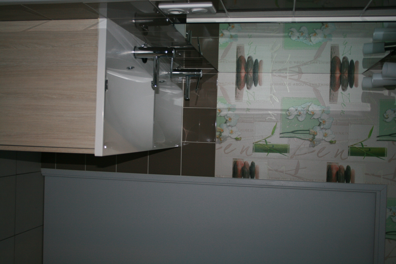 Salle d'eau verte