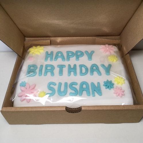 Postal Birthday/Celebration/Inspiration Cake