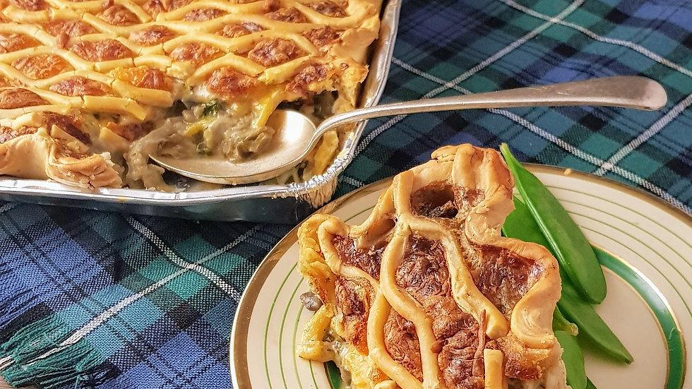 Creamy Vegetable Family Pie (Vegetarian)