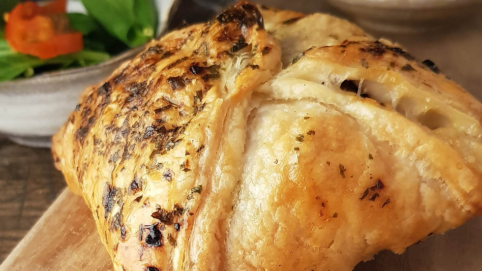 Chicken with Garlic Mushroom Wellington