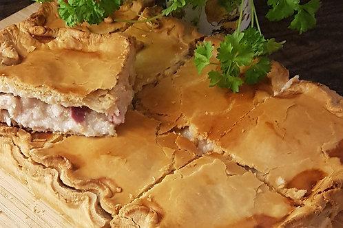 Chicken, Ham & Leek Family Pie