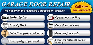 we fix garage doors, new garage doors, new garage door openers, garage door springs, garage door repairs, garage door tune up service. We fix it right! the first time.