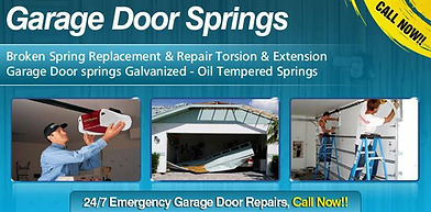 Since garage doors come in all weights and sizes, the right springs need to be installed