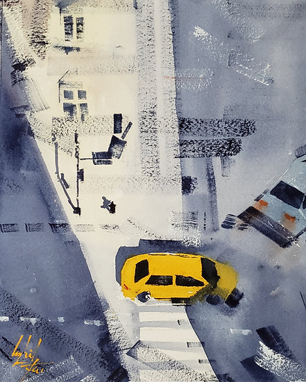 """""""Intersection No.2"""" Original 8x10 Watercolor"""