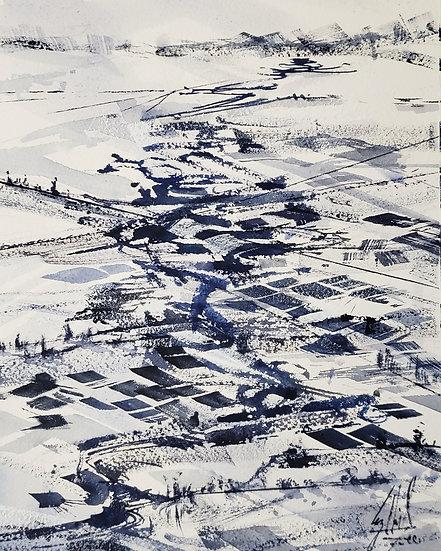 """Tundra Plains"" Original 8x12 Watercolor"