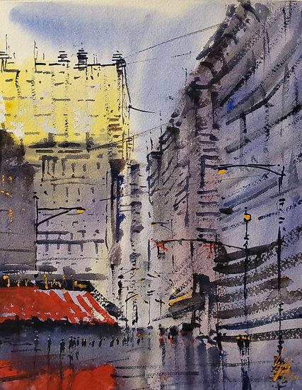 """""""Edge of Light"""" Original 8x10 Watercolor"""