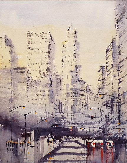 """Faded City"" 8x10 print"