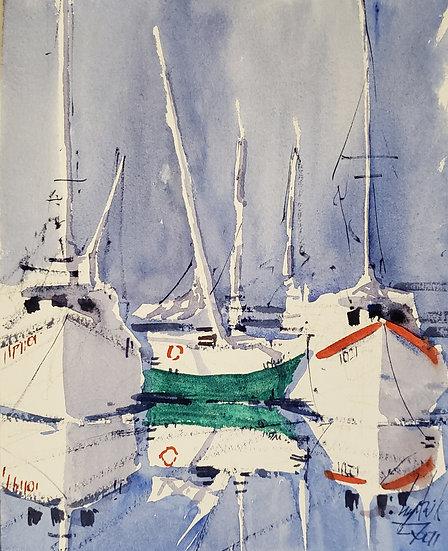 """Mirrored Light"" Original 8x10 Watercolor"