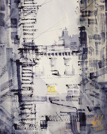 """""""Alley"""" Original 8x10 Watercolor"""