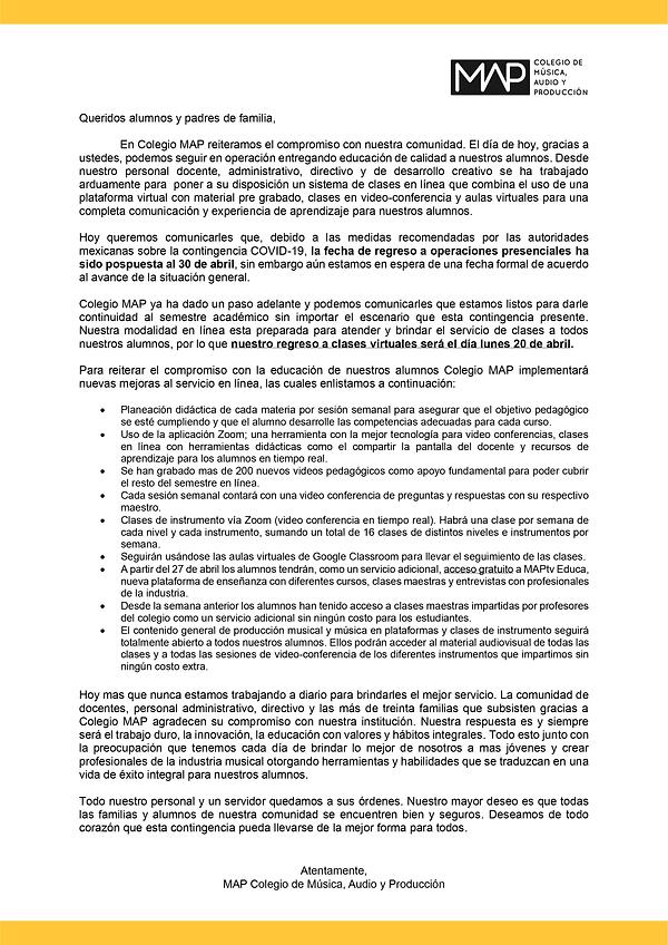 Comunicado COVID 3 abril_Mesa de trabajo