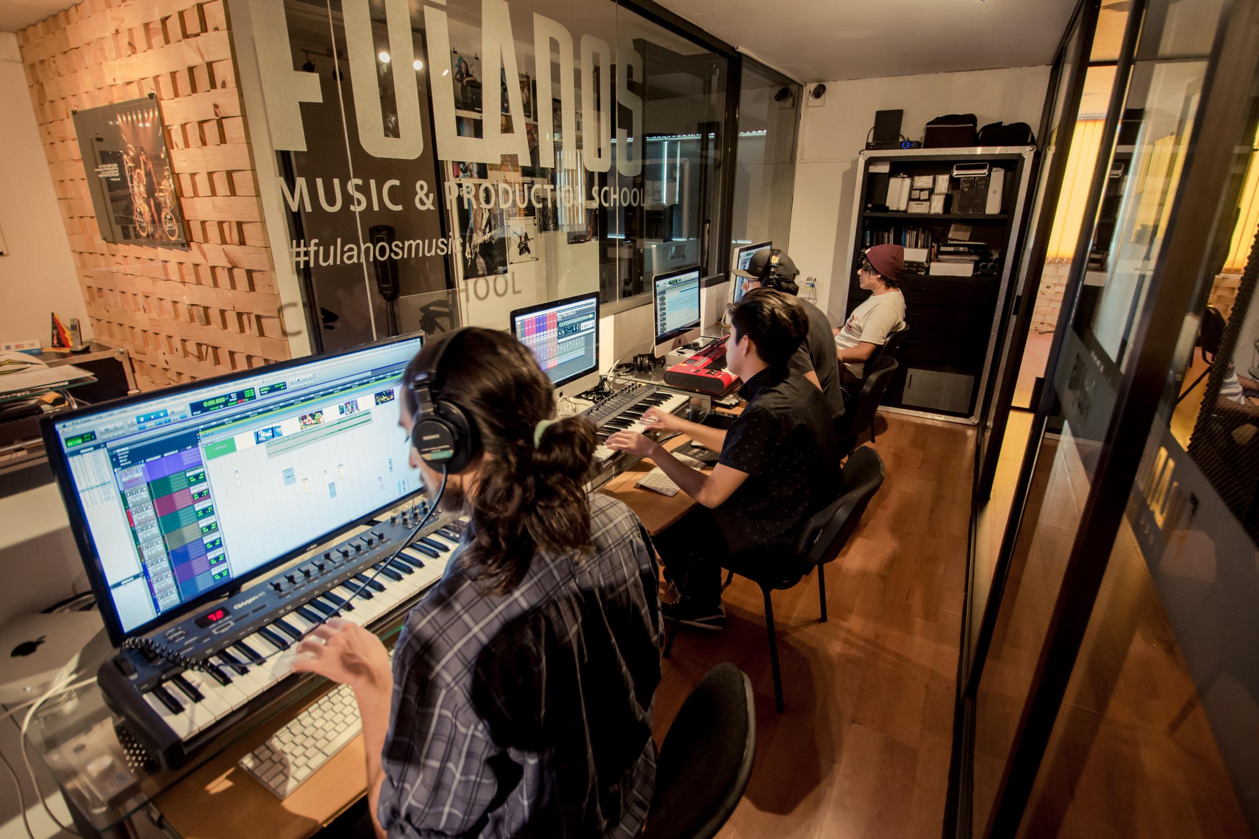 Sala de producción musical