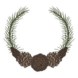 a pine and pine cone wreath