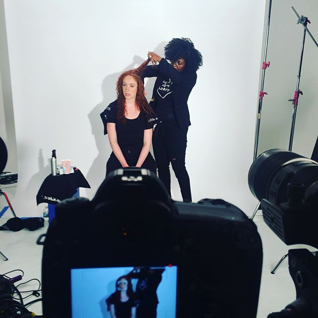 #FlashBack to me on set of  _bumbleandbumble  Curl Collection Video Shoot! I had such a great time w