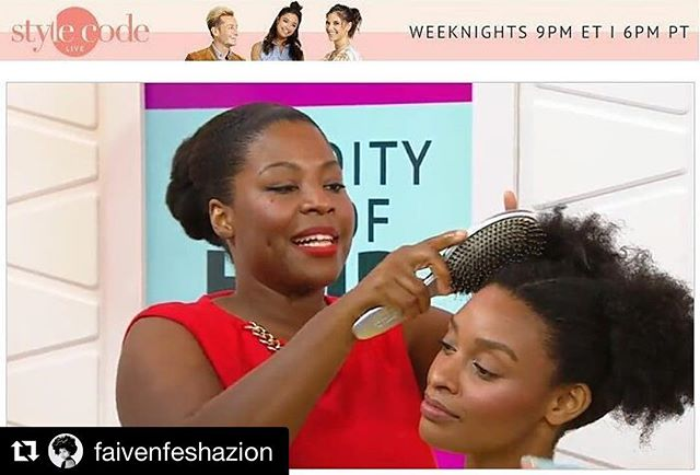 #FLASHBACK to yesterday! Lol__#hair _hairprostacey for _kbainc  using _sheamoisture4u products to ac