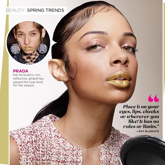 _Springs Trends_ __prada #ss16  #runway inspired look in the #beauty section of the March issue of _