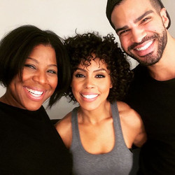 _frankguyton and I with #actress _amirahvannofficial from the hit show _undergroundwgn #behindthesce