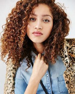 New WERK! On #Beautiful #curlyhair #naturalista #model _thegirlmodel for _urbanoutfitters #hairbysta