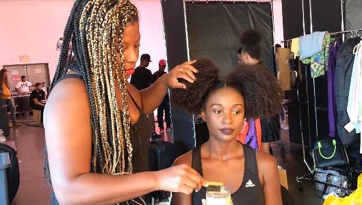 Puff Love! _Here's a little BTS of my recent shoot with _sheamoisture !_This style was so fun to do