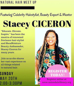 I'm back at _uniondalepubliclibrary Library for part 3 of my natural hair meetup series just in time