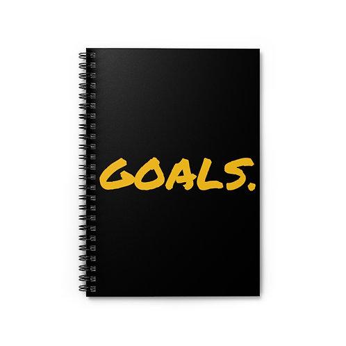 GOALS Spiral Notebook - Ruled Line