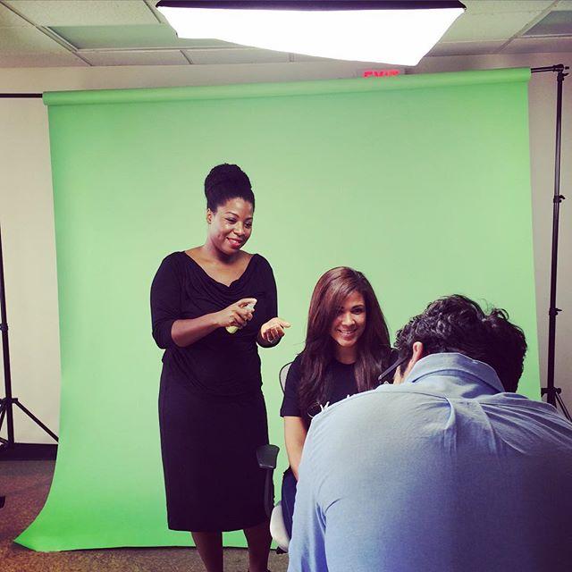 #behindthescenes at today's video shoot #hairtutorial #hair _hairprostacey #texturedhair #naturalhai