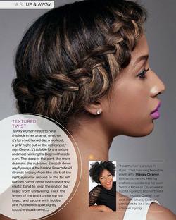 NEW WERK!!!_#TEXTUREDTWIST__essence magazine April issue Every girls needs this look in her Arsenal!