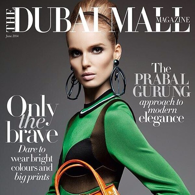 Instagram - New cover (YAY!) for @TheDubaiMallMag with #model @NellRebowe #wardrobestyling @AnnaKats