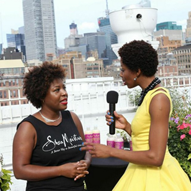 #behindthescenes interview at the _kortomomolu show #nyfw #sheamoisture #abetterwaytobeautiful #kort