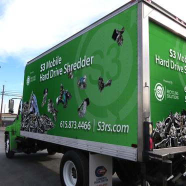 S3 Recycling - Mobile Hard Drive Shredder