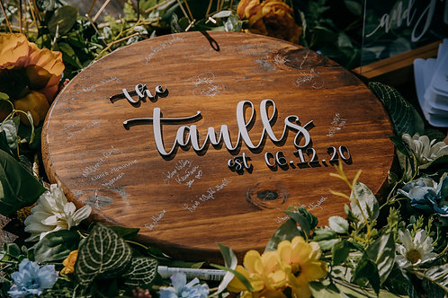 """18"""" round guestbook"""