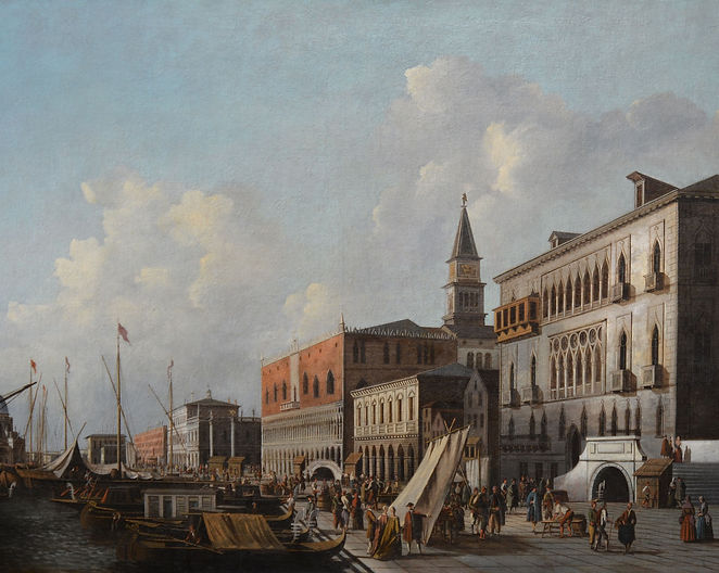 Follower of Canaletto - The Riva degli S