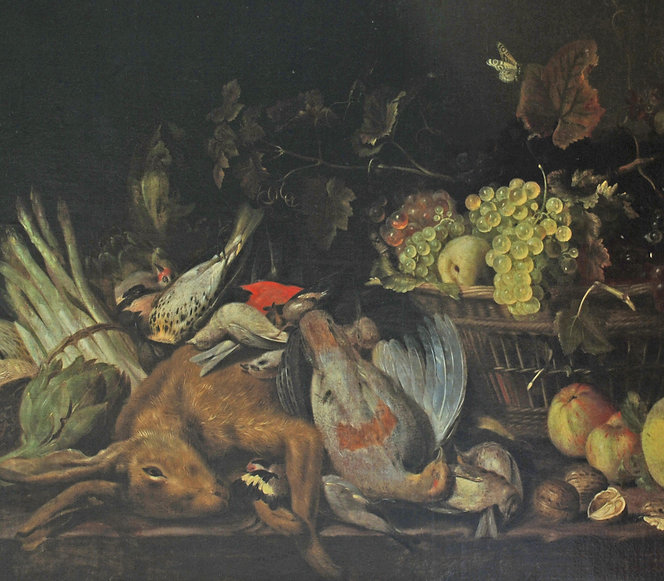 Jan Fyt - Still Life of Fruit and Game.j