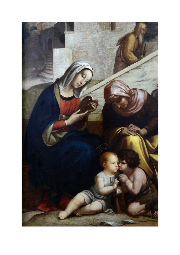 The Virgin and Mary with Jesus and St John (1854)