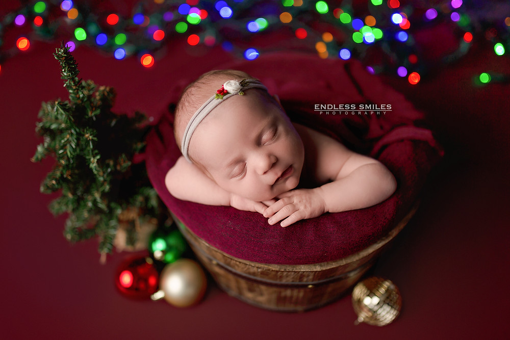 Christmas Newborn Session at Endless Smiles Photography in Haddonfield New Jersey