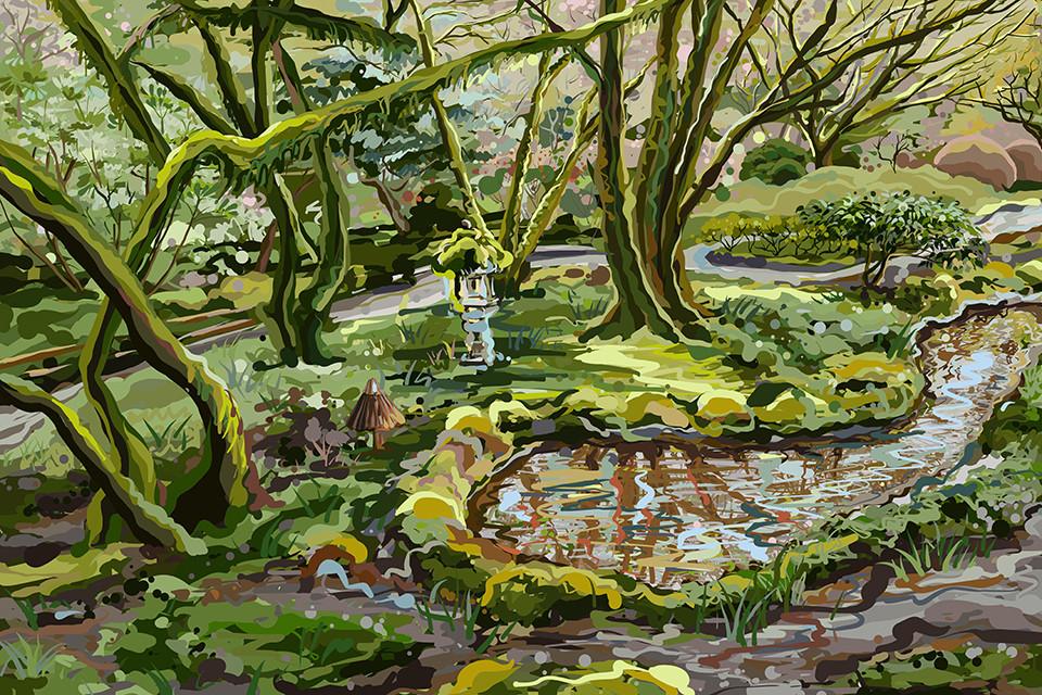 The Butchart Gardens - Moss garden