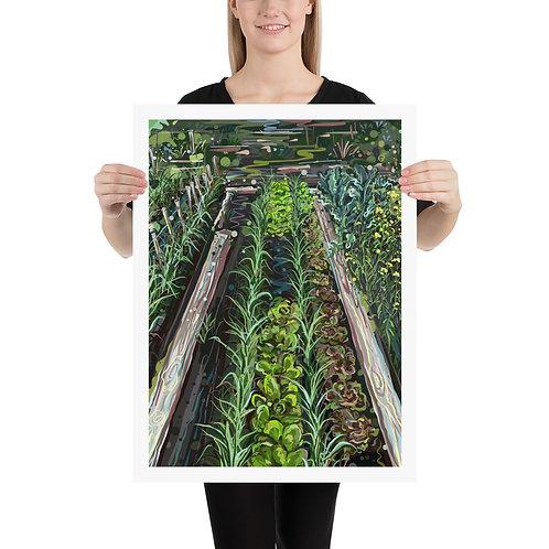 Vegetable Rows 18X24