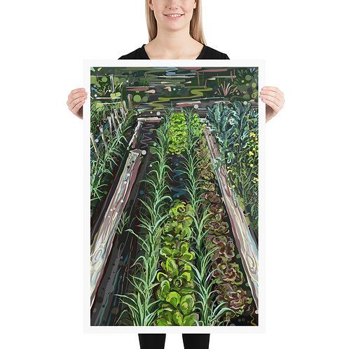 Vegetable Rows 24X36