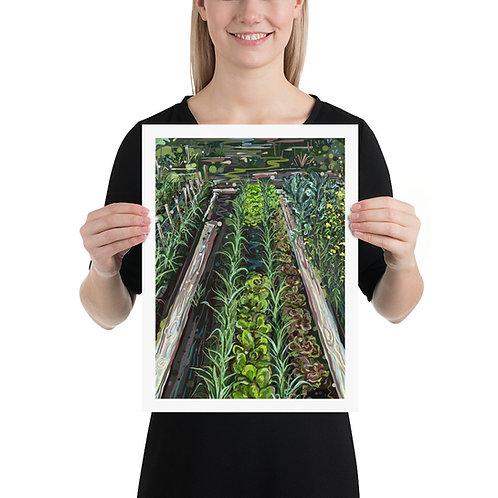 Vegetable Rows 12X16