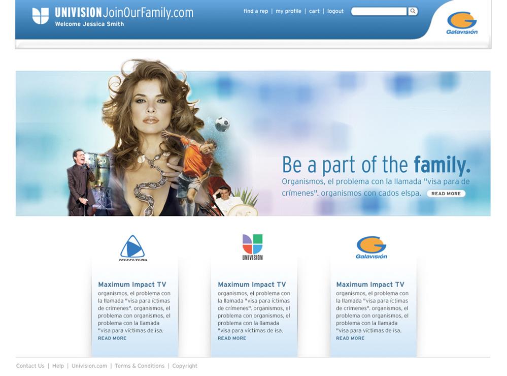 Univision network TV programing