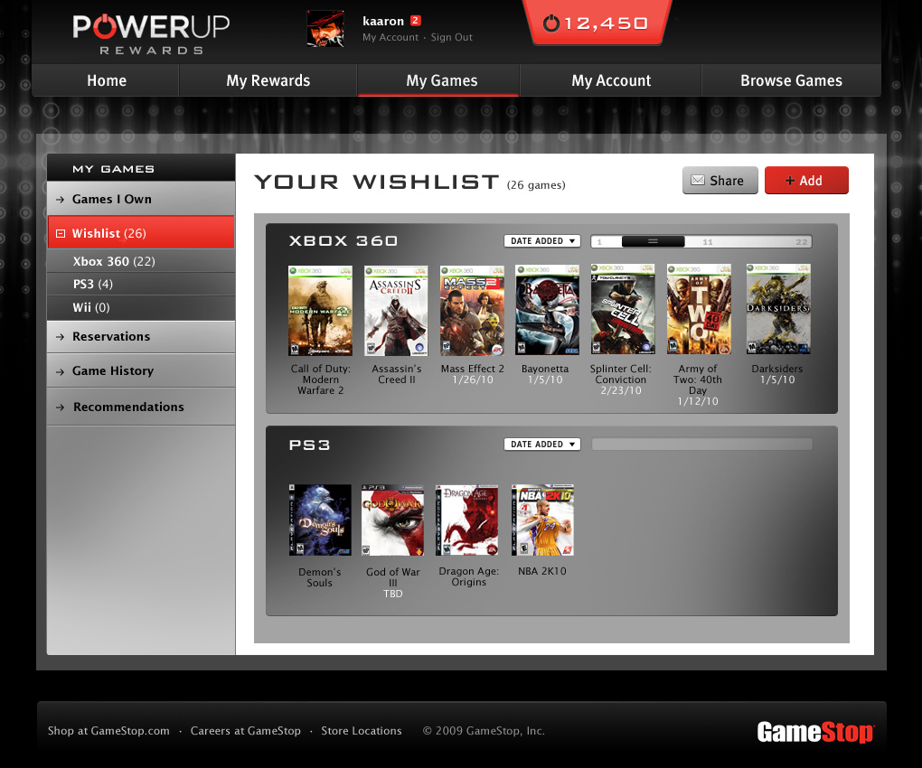 Gamestop loyalty program