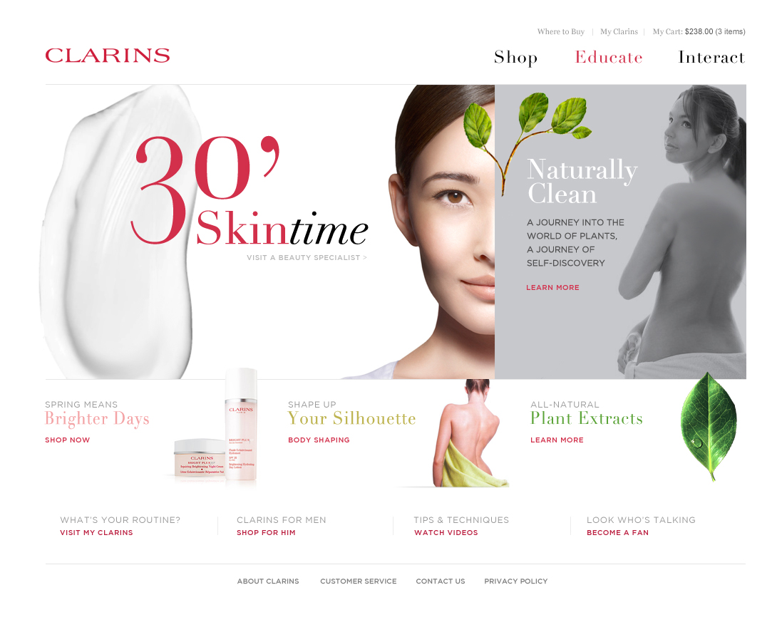 Clarins global eCommerce
