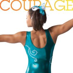 Gymnastics athletic wear marketing materials