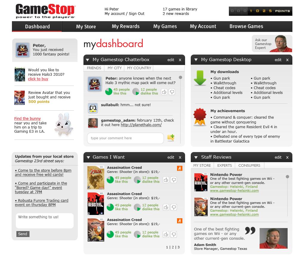 Gamestop community platform