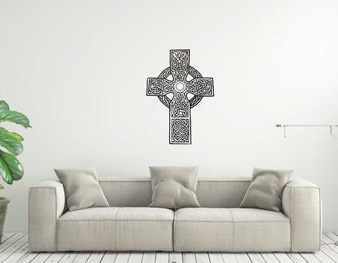 Celtic Cross Custom vinyl wall decal